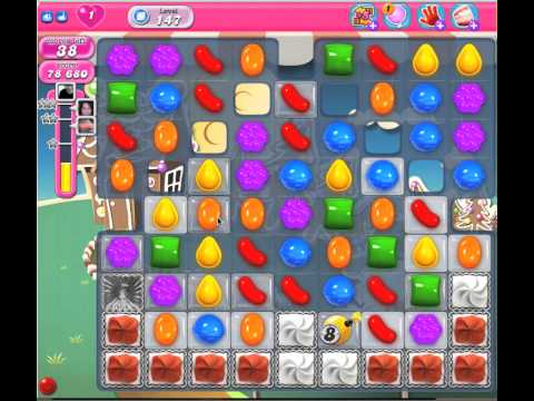 Walkthrough for Candy Crush level 147 strategy