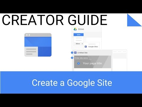 How to Create a Site with The New Google Sites