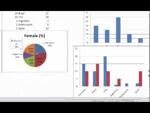 Creating Bar and Pie Charts in Excel