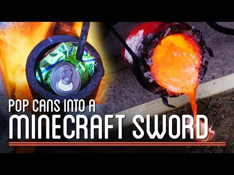 Metal Casting 101: Pop Cans into Minecraft Sword