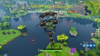 Fortnite search between three boats
