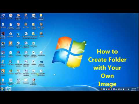 How to Create folder with your own image |  how to change Folder icon to a picture of your choice