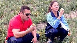 Salman Khan & Anushka Eating RAW Tomatoes During SULTAN Shoot LEAKED