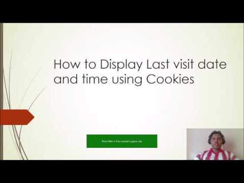 Display last visit date/time using Cache in php