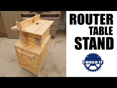 Making My Router Table Stand with built-in dust collection AND tricky door