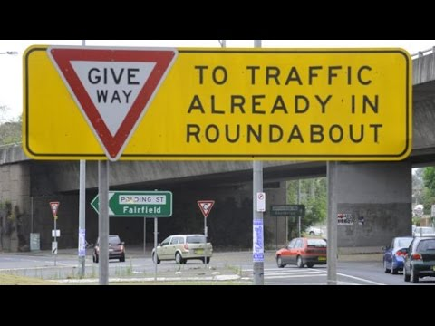 Driver Education Video 4 Roundabout Rules NSW Australia