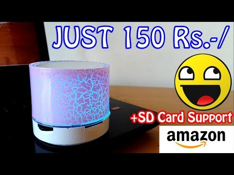 Smallest LED Bluetooth Speaker Unboxing Review Giveaway | Cheapest Best Bluetooth Speaker 2018