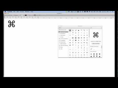 How To Insert Command Symbol on Mac OSX (Lion)