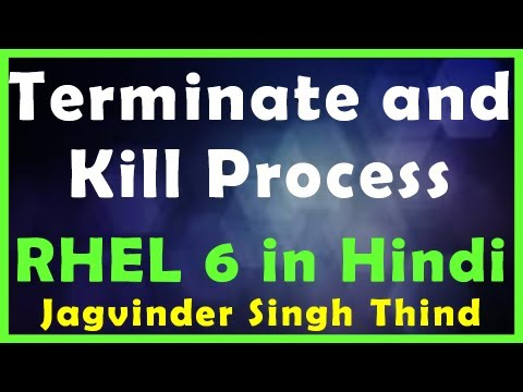 Terminate and Kill Process in Linux RHEL 6 - Video 2