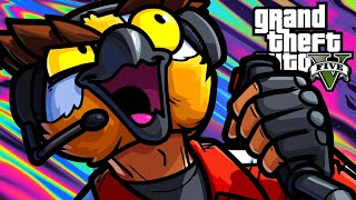 GTA5 Online Funny Moments - Owls Can't Fly Helicopters!