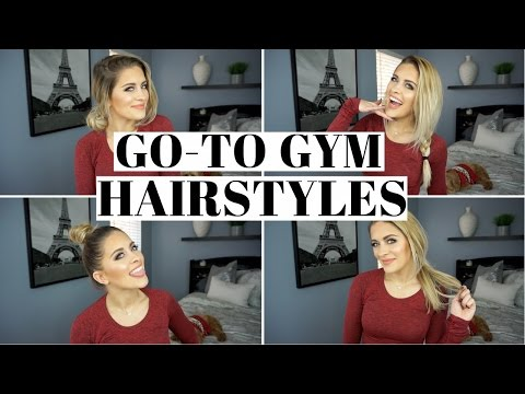 HOW TO: EASY MESSY BUN | 4 Quick Hairstyles For The Gym