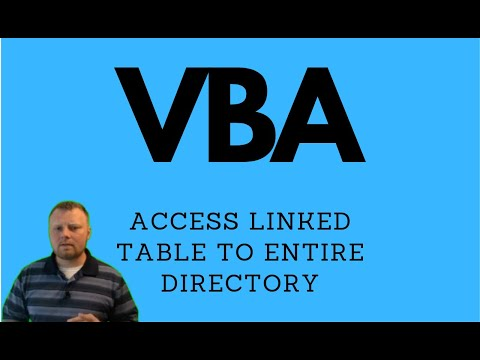 VBA Access Linked Tables - Entire Directory