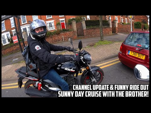 MOTO-VLOG #7 - FUNNY RIDE OUT, CHANNEL UPDATE - SUNNY CRUISE WITH THE BROTHER (KSR CODE 125)