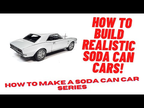 Building classic car models out of soda cans