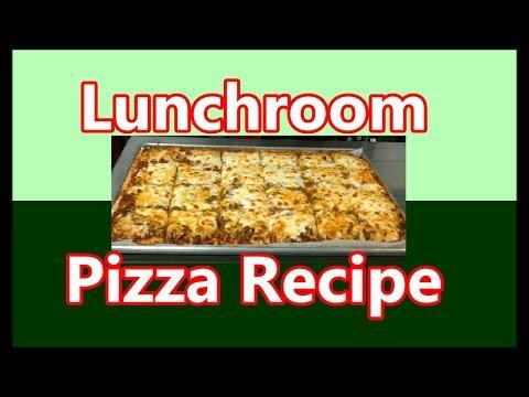 School Cafeteria Pizza Recipe