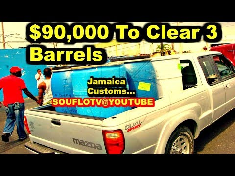 Jamaica Customs 90,000 Robbery to Clear 3 Barrels