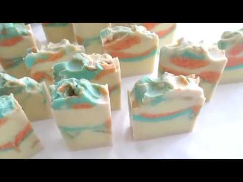 Ricing Soap - Making and Cutting Apple Blossom Cold Process Soap