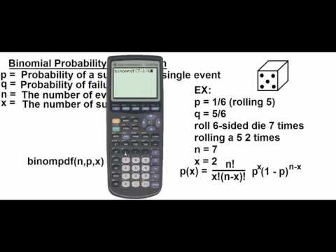 Binomial Probability Distribution on the calculator