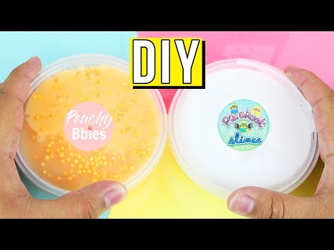 How To Make Parakeet Slimes Cereal Milk and PeachyBbies Slime!!! DIY FAMOUS SLIME SHOP RECIPES!!!