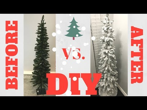 DIY Flocked (SNOW) Christmas Tree: How To + Save Money!