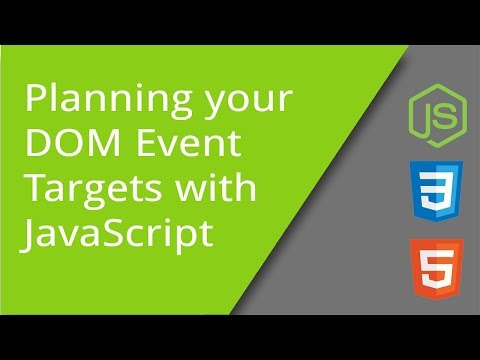 Planning your DOM Event Targets