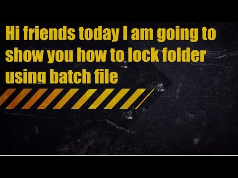 How to Lock folder Using Bat File(without any software) || How to Lock folder without any software