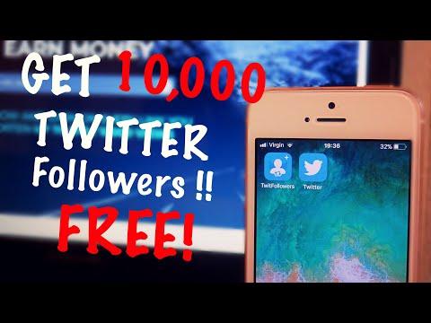 GET 10,000 TWITTER FOLLOWERS FREE! Working 2018
