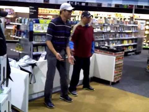 brian and tony playing kinect at best buy