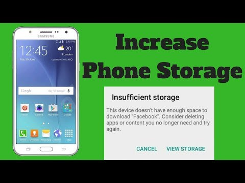 how can i increase my internal storage without rooting
