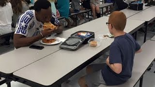 Her Son Ate Alone At School Each Day. Then When A Football Star Sat Next To Him Mom Was In Tears