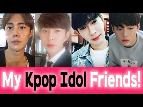 My Kpop Idol Friends // Sibong's Korean Star Mates