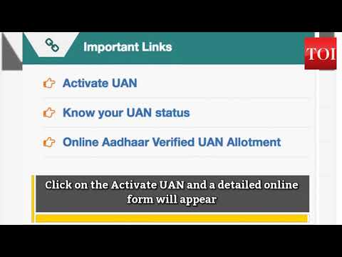 How to activate / register UAN Number for PF account?