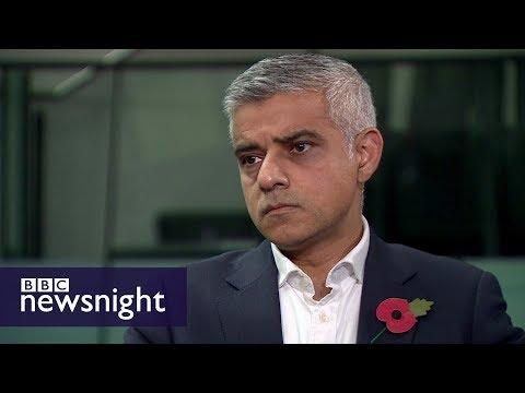 London Mayor Sadiq Khan on affordable housing - BBC Newsnight