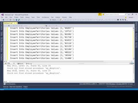 How to Import SQL Script to SQL Server or Visual Studio 2012 or Later