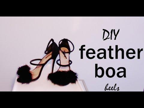 DIY Furry Feather Heels