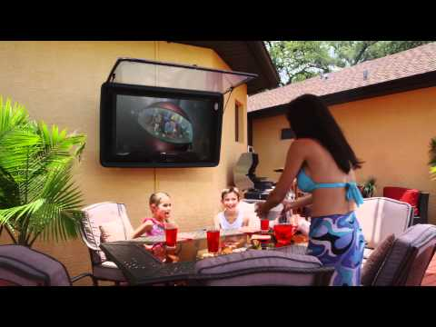 Outdoor Tv Cover The Tv Shield Watch Tv Outside Tv Covers 50 Inch
