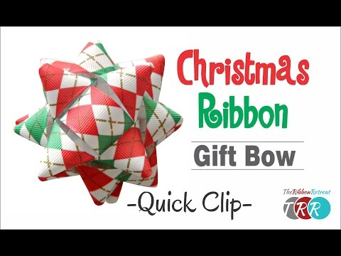 Quick Clip -  How to Make a Christmas Ribbon Gift Bow