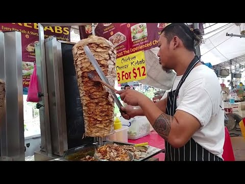Piping Hot Chunky Chicken Kebab Doner | Chessy Chicken Kebab Wrap | King of Kebabs