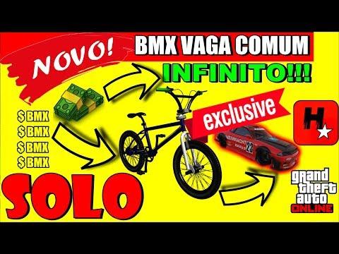 GTA 5 💲NOVO GLITCH SOLO💲SUPER FÁCIL💲MELHOR MANEIRA DE COLOCAR BMX EM VAGA DE CARRO💲DINHEIRO GTA V