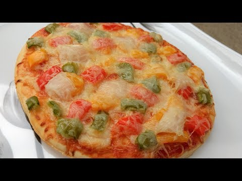 Veg Pizza In Microwave Oven