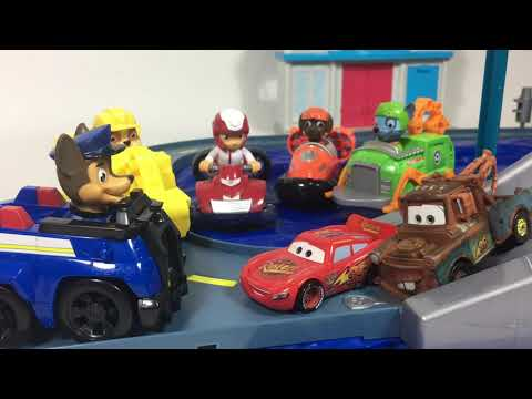 PAW PATROL Launch N Roll Adventure Bay LOOKOUT Tower Track Set Ryder Rubble || Keith's Toy Box