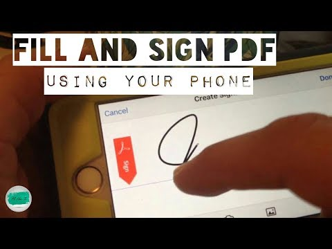 HOW TO fill, sign and send a PDF form using just your smartphone ANDROID, IPHONE