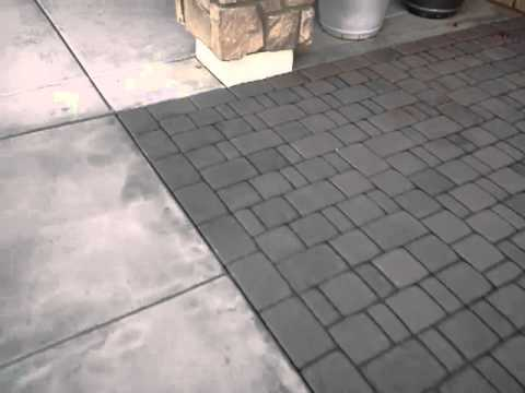Concrete Paver Cleaning removing stains