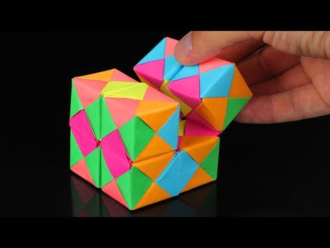 How To Make A Paper INFINITY CUBE!