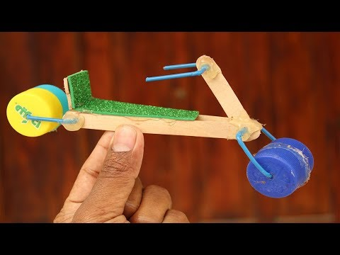 Awesome DIY bike - How to make  using crafts