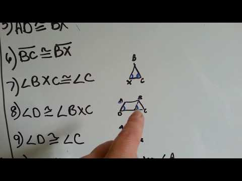 Isosceles Trapezoid congruent base angles proof (Geometry #150)