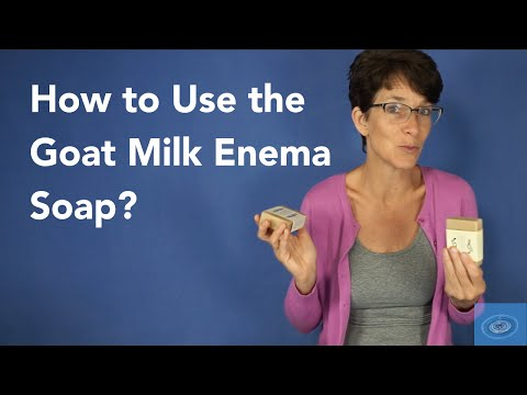 How to Use the Goat Milk Enema Soap