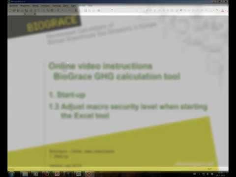 BioGrace video instruction 1-3 - Adjust macro security level