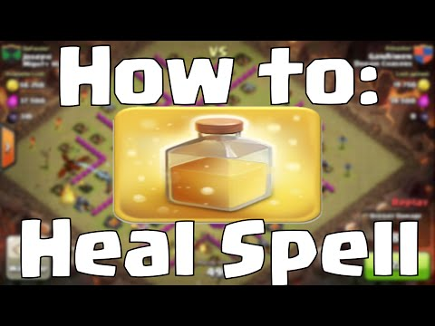 Clash of Clans Heal Spell Attack Strategy | How to Use a Heal Spell Effectively