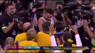 Last 5 Minutes of game 5 of the 2017 NBA Finals